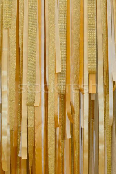 ストックフォト: ゴールドの質感 · リボン · パターン · テクスチャ · 抽象的な · 背景