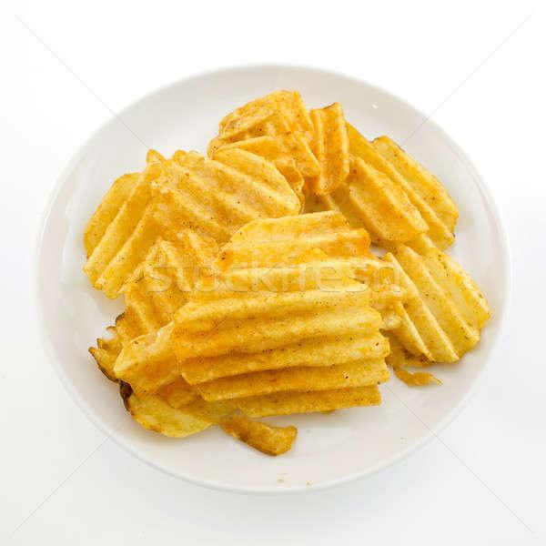 potato crisps on white background Stock photo © art9858
