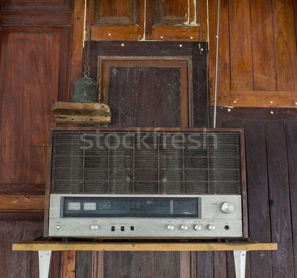 Old radio in Thai House Stock photo © art9858