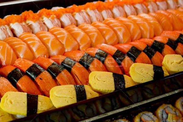 Szusi textúra étel hal tenger vacsora Stock fotó © art9858