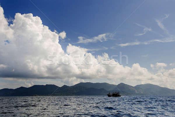 Famous lipe island lagoon with a boat. Stock photo © art9858