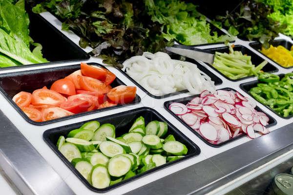 Insalata bar verdura supermercato cibo sano verde Foto d'archivio © art9858
