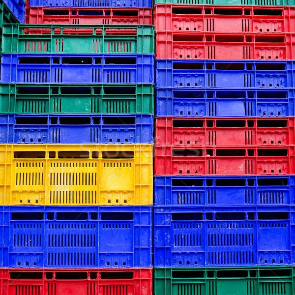 Wiele kolory plastikowe świetle niebieski Zdjęcia stock © art9858