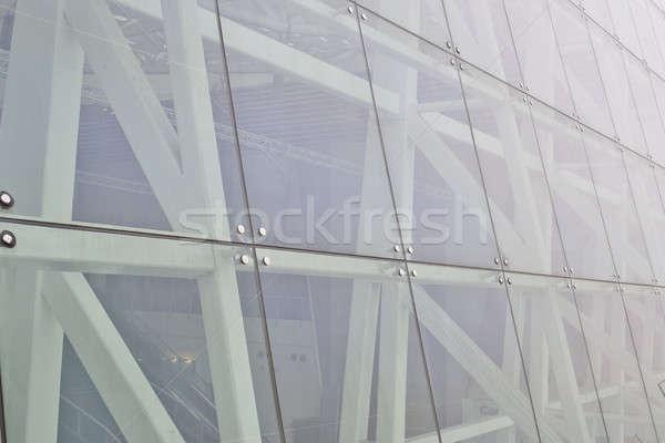 Muur moderne kantoorgebouw glas achtergrond venster Stockfoto © art9858