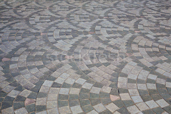 Brick marble footpath background texture Stock photo © art9858