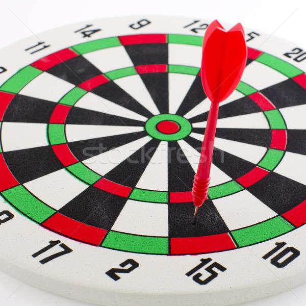 One darts in target Stock photo © art9858