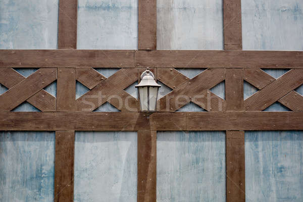 Lamp on a brown lath wall Stock photo © art9858