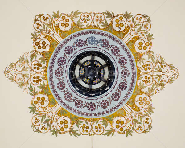 vintage chandelier with Thai painting Stock photo © art9858