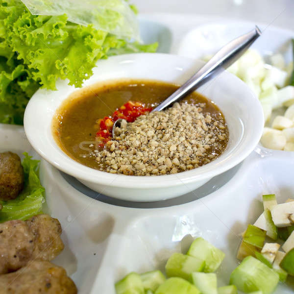Vietnamese Meatball Wraps (Nam Neung) Stock photo © art9858