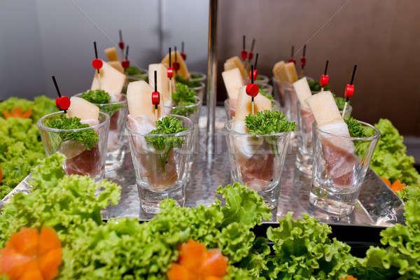 Finom előétel ujj ételek esküvő buli Stock fotó © art9858