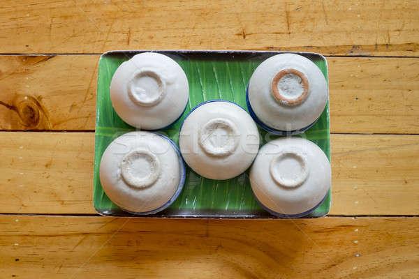 Thai steamed pandanus cake Stock photo © art9858