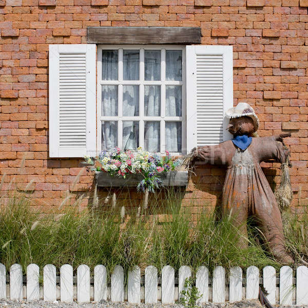 Window with Scarecrow Stock photo © art9858