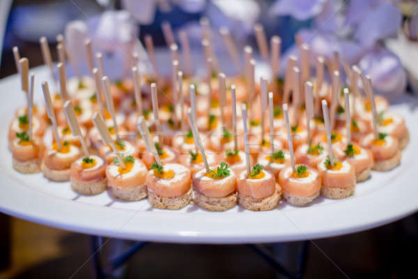 Delicious canapes as event dish Stock photo © art9858