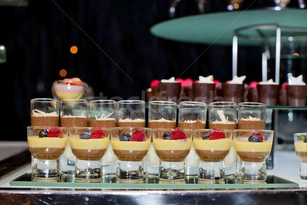 Varity of fancy panna cotta Stock photo © art9858