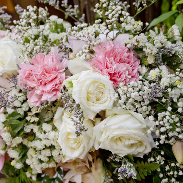 flowers bouquet arrange for decoration in wedding ceremony Stock photo © art9858