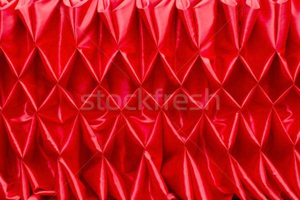 Vermelho fechado cortina textura luz etapa Foto stock © art9858