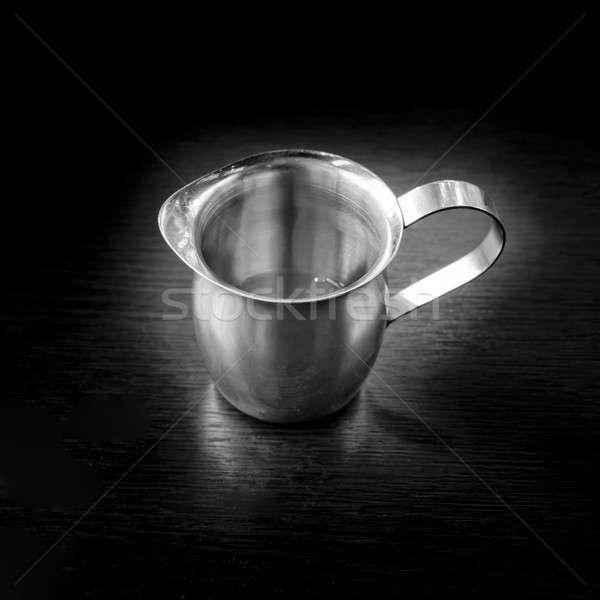 Aço inoxidável prata água projeto chá preto Foto stock © art9858