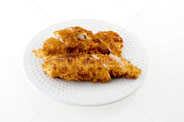 ぱりぱり 鶏 白 プレート ストックフォト © art9858