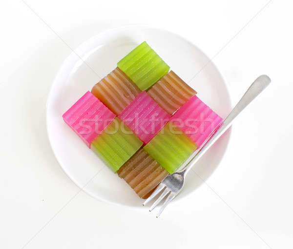 Khanom Chan or Thai sweetmeat is a kind of sweet Thai dessert. Stock photo © art9858