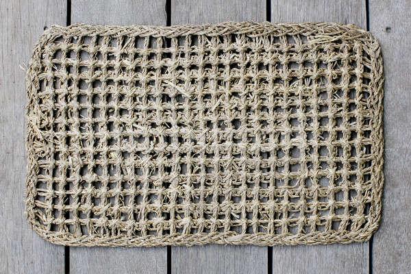 rattan mat background texture. Stock photo © art9858
