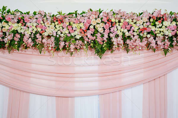 Güzel çiçekler düğün sahne çiçek sevmek Stok fotoğraf © art9858
