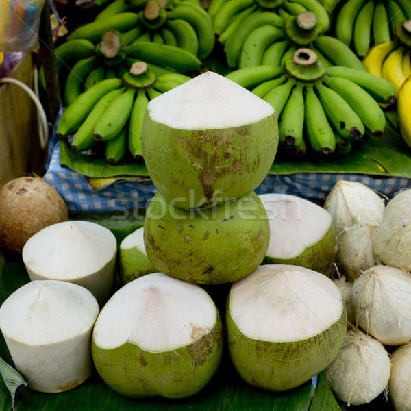 Tender and Fresh Coconut in the market Stock photo © art9858
