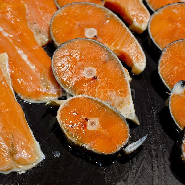 Fresh salmon fillets Stock photo © art9858