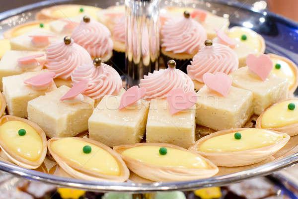 Dessert buffet lijn woestijn restaurant Stockfoto © art9858