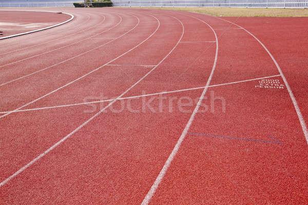 Fut útvonal sportolók tájkép egészség háttér Stock fotó © art9858
