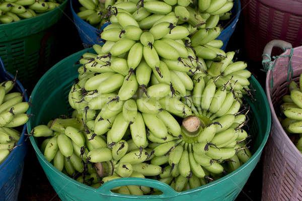 Verde banana cesta pronto vender natureza Foto stock © art9858