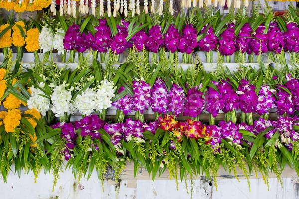 Monte local thai orquídea flor mercado Foto stock © art9858