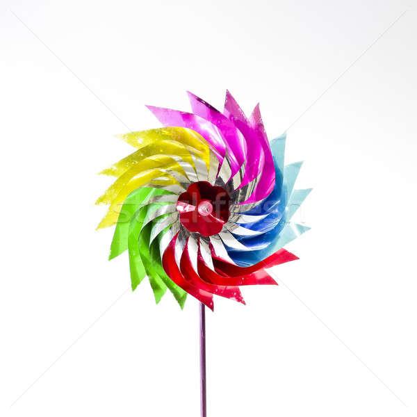 Kâğıt rüzgâr değirmen çocuk eğlence oyuncak Stok fotoğraf © art9858