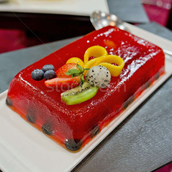 клубника желе торт многие плодов таблице Сток-фото © art9858