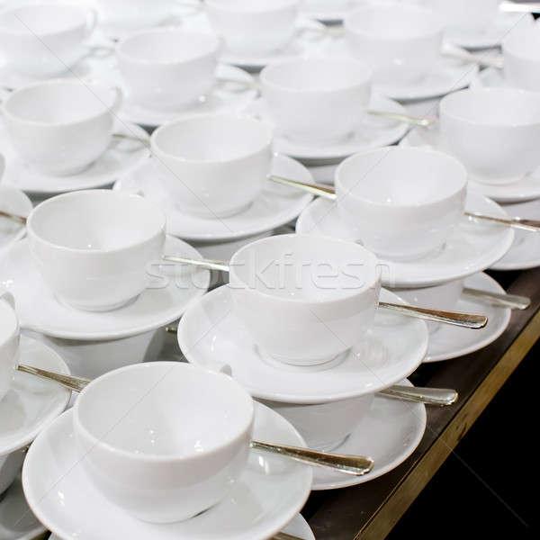 Muitos branco copo pires Foto stock © art9858