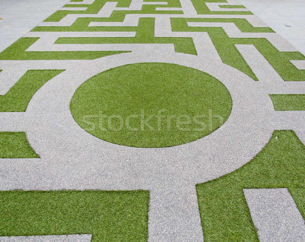 Stock photo: Detail of a grass labyrinth