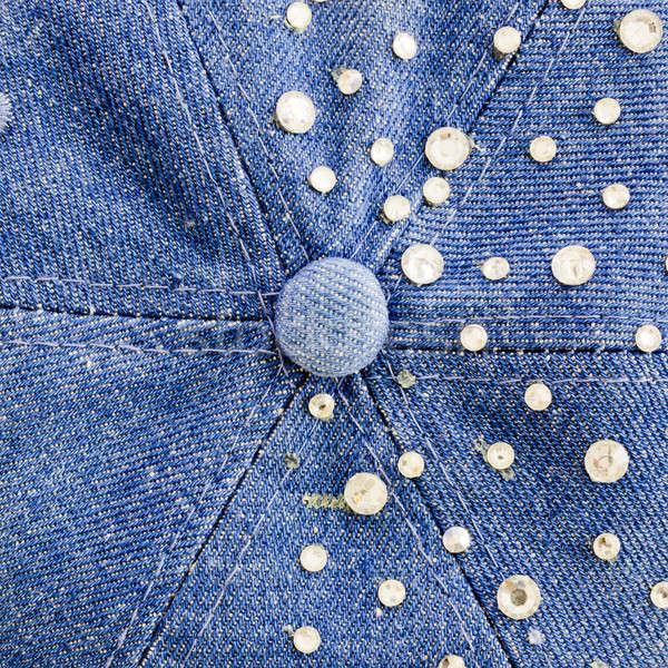 Farmer kék ezüst textúra divat háttér Stock fotó © art9858