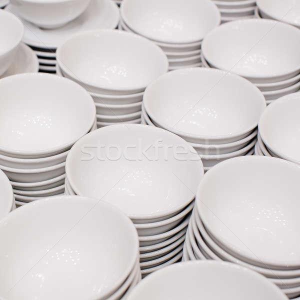 Preciso cerâmico branco vazio Foto stock © art9858