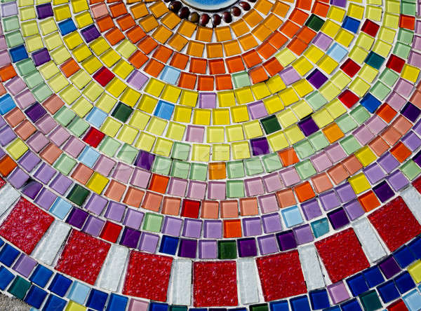 Decorative background with colorful mosaic tiles Stock photo © art9858