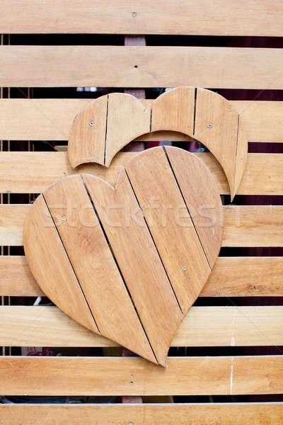 Forma de corazón grunge textura amor madera Foto stock © art9858