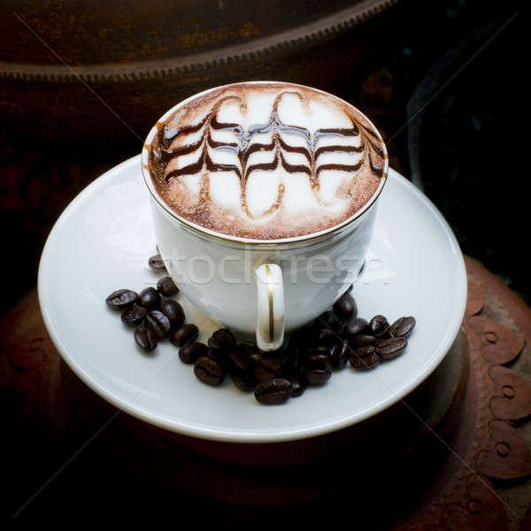 Művészet kávé kávé ázsiai cserépedények szeretet Stock fotó © art9858