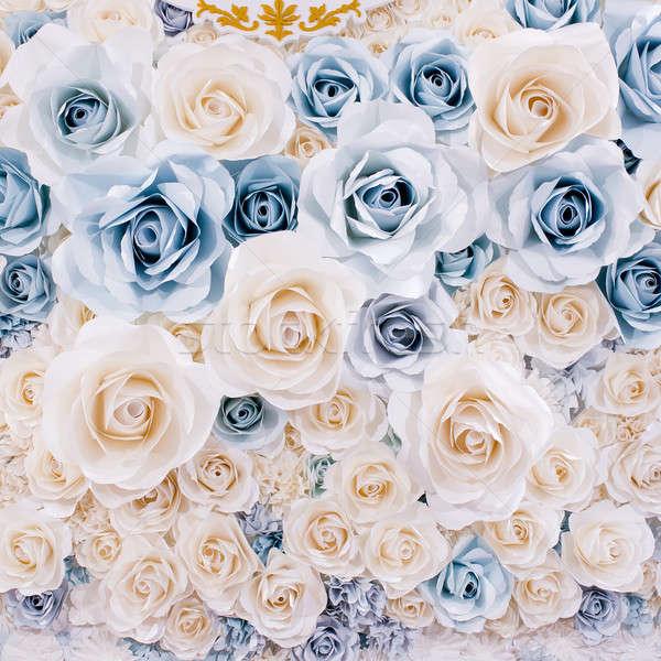 Bruiloft witte bloemen abstract ontwerp achtergrond zomer Stockfoto © art9858