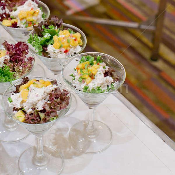 Appetitoso insalata trasparente insalatiera alimentare primo piano Foto d'archivio © art9858