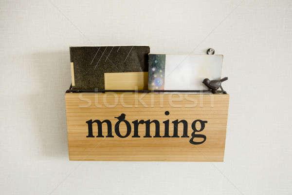 Scaffale mattina carta libro design istruzione Foto d'archivio © art9858