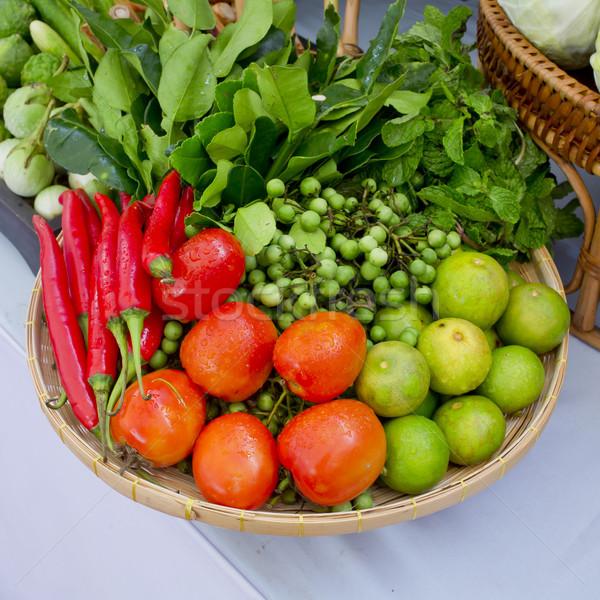 Kind of Thai vegetables set in Thai kitchen style. Stock photo © art9858