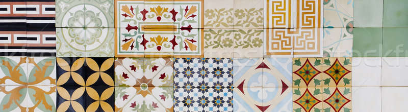 Stock photo: Collection of 9 ceramic tiles