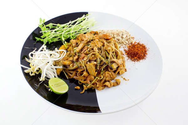 тайский блюдо сушат креветок желтый Тофу Сток-фото © art9858