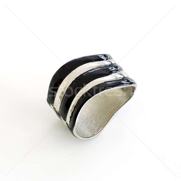 Ezüst karkötő divat szín fehér tiszta Stock fotó © art9858
