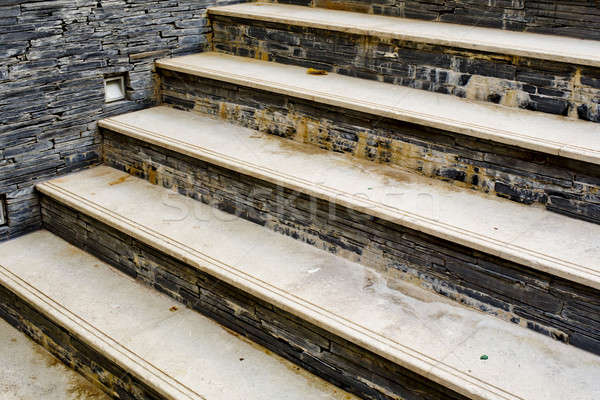 staircase made by natural stone and tiles and get problem from b Stock photo © art9858