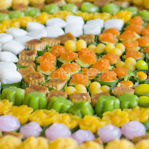 Thai sweets, or Khanom Thai, have unique, colorful appearance  Stock photo © art9858