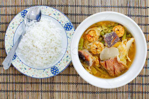 Ready to eat - hot and sour curry with tamarind sauce, shrimp an Stock photo © art9858